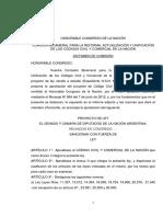 Modificaciones al proyecto de Código Civil y Comercial introducidas por el FpV.