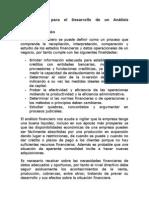 herramientas para el Desarrollo de un Análisis Financiero.