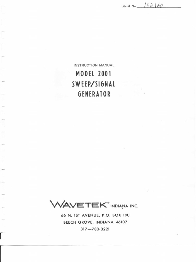 1509787318 wavetek signal generator 2001 (1) amplifier electricity  at panicattacktreatment.co