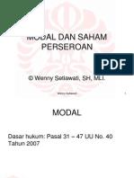 Modal Dan Saham Perseroan - Ws