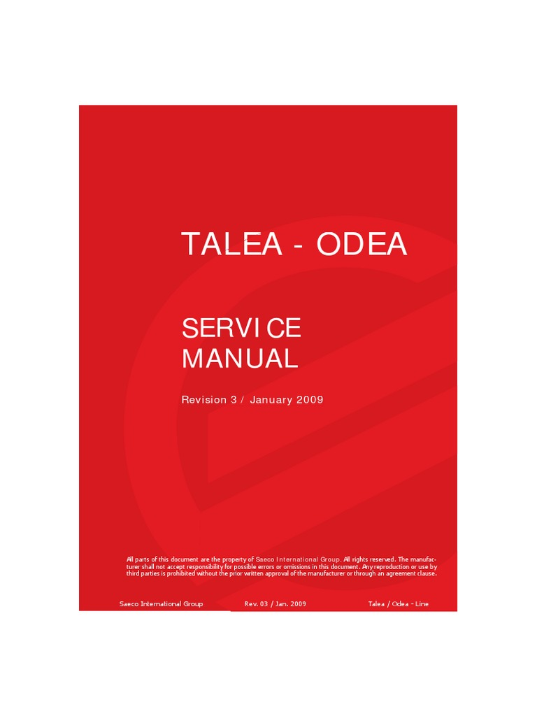 service manual talea odea rev 032 coffee water heating rh fr scribd com saeco talea service manual service manual saeco talea giro