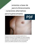 Tratamientos naturales Ginecomastia