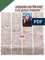 Fredrick Haren India Press Interview - DNA, 18th Nov, 2013
