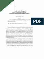 Giroux - Géométrie de contact de la dimension trois vers les dimensions supérieures