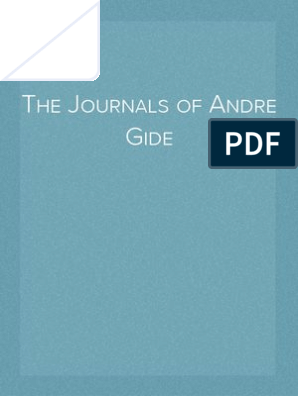 14523952b34a The Journals of Andre Gide