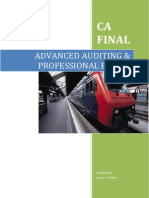 CA Final - Advanced Auditing and Professional Ethics (for CA in India)