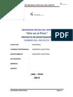 Modelo de Proyecto de Investigacion Upn Martin Banda Ramos