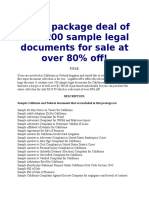 Over Sample Legal Documents For California And Federal - California legal documents