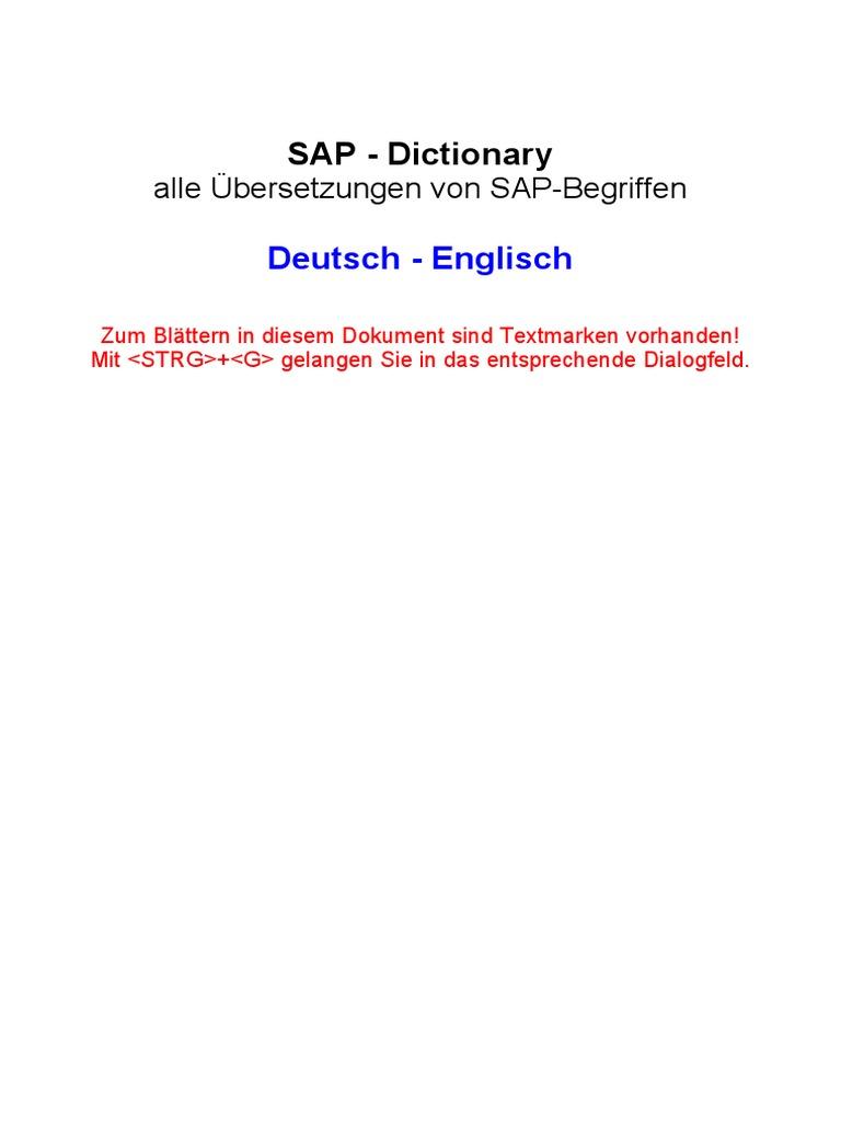 46306940 SAP Dictionary German English | Business