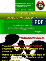 PP Violacion Sexual- MEDICINA LEGAL