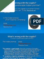 Criticisms of the Cogito