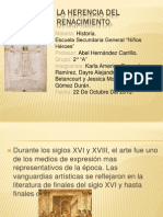La Herencia Del Renacimiento Historiaa