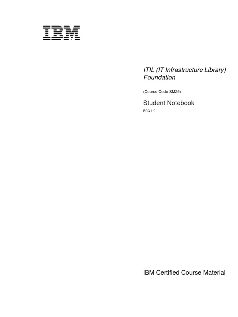 Itil Study Guide Itil It Service Management