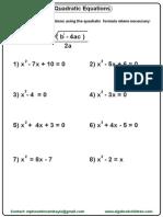 Quadratic Formular
