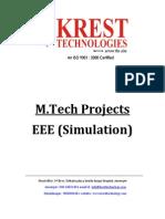M.tech EEE Projects List 2011-12