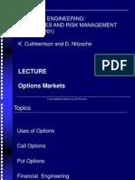 Chp07 Options Markets