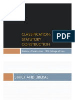 Classification of Statutes