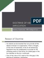 Doctrine of Necessary Implication