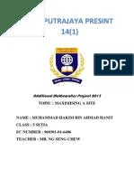 Additional Mathematics Project 2013