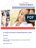 Lewin Final Report on Medicaid Expansion Alaska