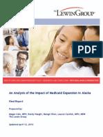 Lewin Final Report on Medicaid Expansion Alaska