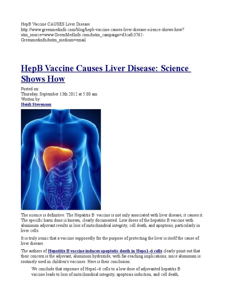 Hepb Vaccine Causes Liver Disease Hepatitis Liver