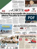 Periódico Norte de Ciudad Juarez 22 de Noviembre de 2013