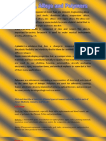 Alloys,Polymers and Plastics