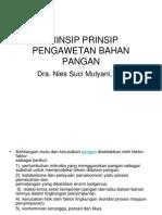 Prinsip Prinsip Pengawetan Bahan Pangan
