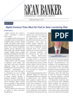 Digital Currency Firms Must Act Fast to Tame Laundering Risk SHAPIRO 100213