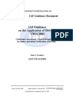 IAF-GD24-2009 Guidance on ISO 17024 Issue 2 Ver2