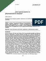 Atomic Absorption Spectrometry in Pharmaceutical Analysis