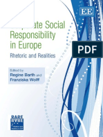 Corporate Social Responsibility in Europe - Rhetoric and Realities