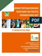 Proposal Presentasi Pelayanan Rumah Sakit Pt. Bintang Nutrisi Prima Nov 2013