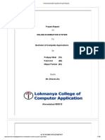 Online Examination System (Project Report)