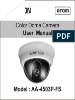 Avtron Dome CCTV Camera USer Manual Aa 4503 Fs Manual