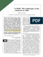 Denevan 1992--The Pristine Myth-The Landscape of the Americas in 1492
