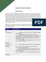 ASP Net Using Vb Net