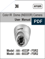 Avtron IR Dome CCTV Camera AA-4533-6033-FSR2-manual
