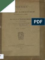 Poésies en patois limousin / avec la traduction par M. Pierre Laforest et la musique originale recueillie et collationnée par M. Paul Charreire