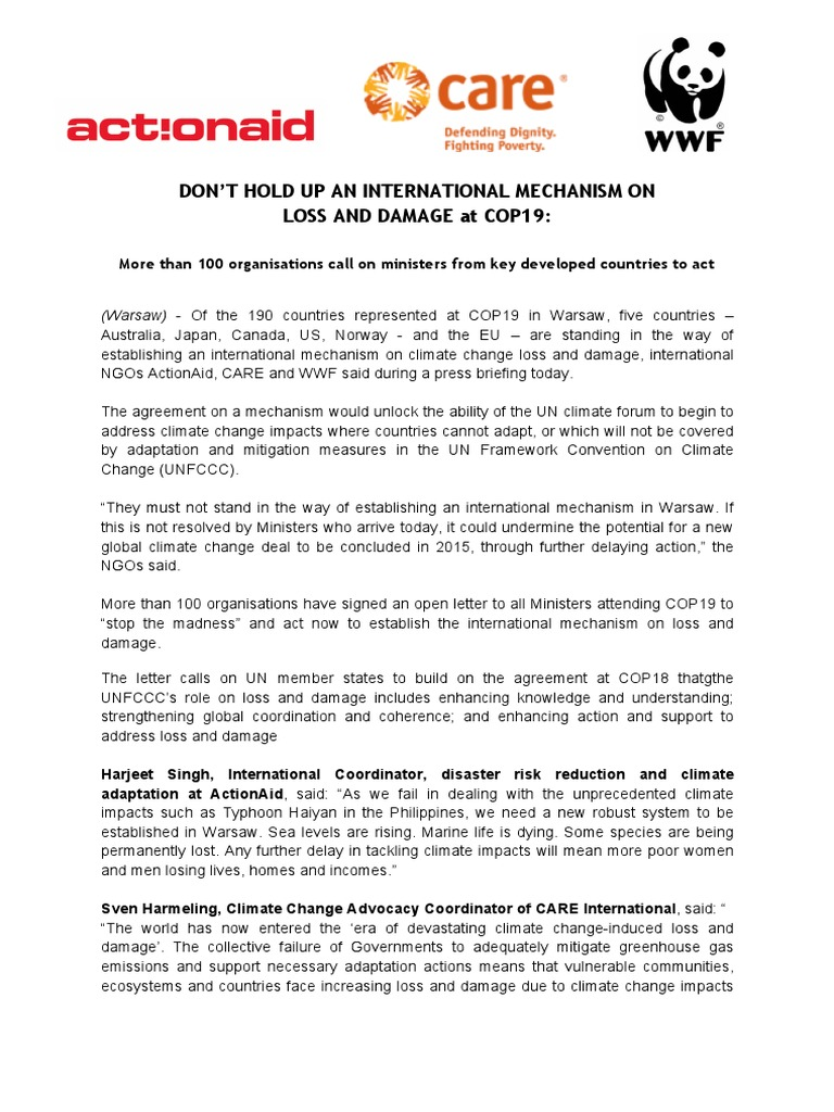 Press Release Plea By Ngos For Countries Support Establishment Of