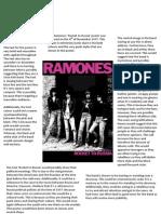 Ramones Poster Analysis