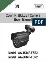 Avtron IR Bullet Camera AA-4544-6044P-FSR2-manual
