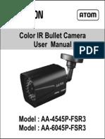 Avtron IR Bullet Camera AA-4545P-6045-FSR3-MANUAL