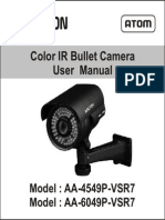 Avtron IR Bullet Camera AA-4549P-6049-VSR7-MANUAL