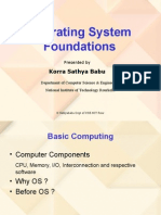 1 Operating Systems Foundations Students