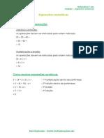 1.4 - Expressões numéricas - Ficha Informativa