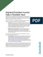 Migrating Autodesk Inventor Data in Autodesk Vault