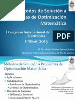 Métodos de Solución a Problemas de Optimización Matemática