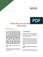 Recuerdos Vivos de Ortega